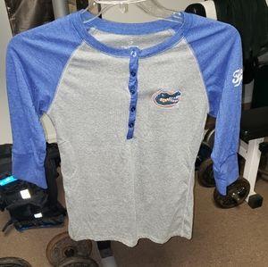 Gators medium 3/4 sleeve shirt